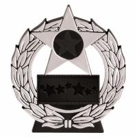Mega Star4.5 Silver Plaque Black/Silver 4.5 Inch
