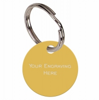 Round Gold Anodised Alum Tag Gold 19mm