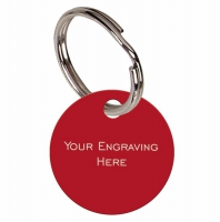 Round Red Anodised Alum Tag Red 19mm