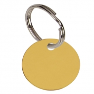 Round Gold Anodised Alum Tag Gold 25mm