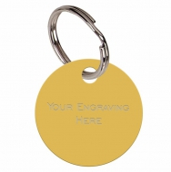 Round Gold Anodised Alum Tag Gold 32mm