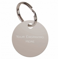 Round Silver Anodised Alum Tag Silver 32mm