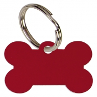 Bone Red Anodised Alum Tag Red 38mm x 26mm