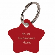 Star Red Anodised Alum Tag Red 28mm x 28mm