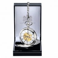 AE William Pocket Watch Silver 40mm