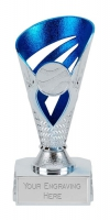 Voyager Presentation Cup Trophy Award Silver/Blue 6 Inch (15cm) : New 2020
