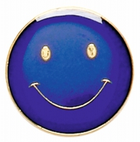ButtonBadge20 Smile Blue Blue 20mm