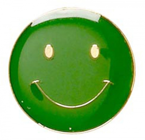 ButtonBadge20 Smile Green 20mm