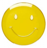 ButtonBadge20 Smile Yellow Yellow 20mm