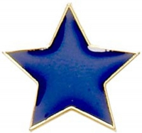 Badge20 Flat Star Blue Blue 20mm