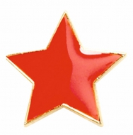 Badge20 Flat Star Red Red 20mm