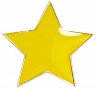 Badge20 Flat Star Yellow 20mm