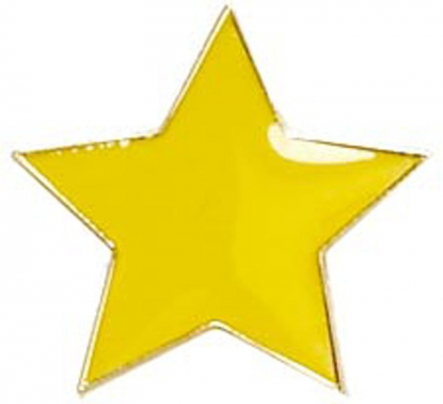 Badge20 Flat Star Yellow Yellow 20mm