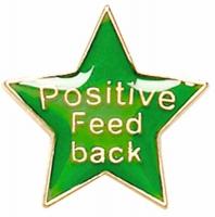 Badge20 Positive Feedback Green 20mm
