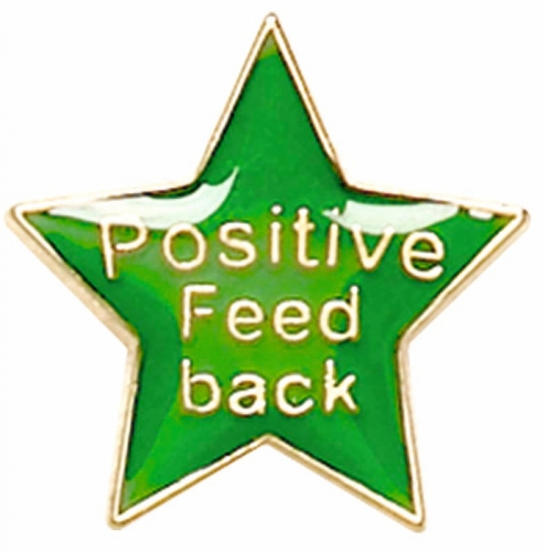 Badge20 Positive Feedback Green Green 20mm