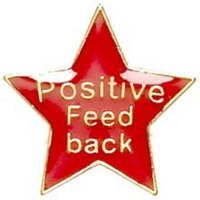 Badge20 Positive Feedback Red 20mm