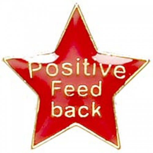 Badge20 Positive Feedback Red Red 20mm