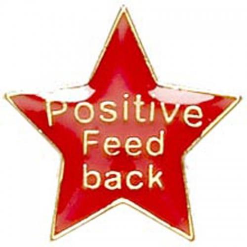 Badge20 Positive Feedback Red 20mm