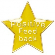 Badge20 Positive Feedback Yellow Yellow 20mm