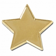Badge20 Flat Star Gold 20mm