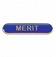 BarBadge Merit Blue Blue 40 x 8mm