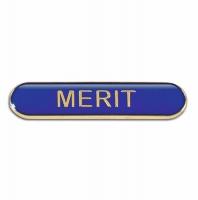 BarBadge Merit Blue 40 x 8mm
