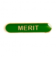 BarBadge Merit Green Green 40 x 8mm