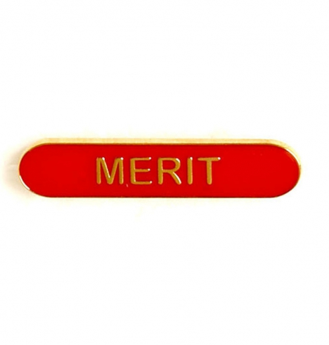BarBadge Merit Red 40 x 8mm