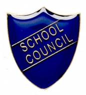 ShieldBadge School Council Blue Blue 22 x 25mm