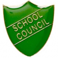 ShieldBadge School Council Green Green 22 x 25mm