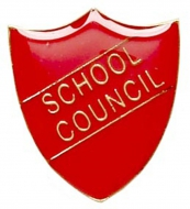 ShieldBadge School Council Red Red 22 x 25mm