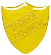 ShieldBadge School Council Yellow Yellow 22 x 25mm
