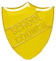 ShieldBadge School Council Yellow 22 x 25mm