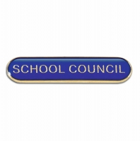 BarBadge School Council Blue Blue 40 x 8mm