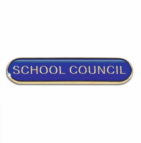 BarBadge School Council Blue 40 x 8mm