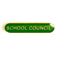 BarBadge School Council Green Green 40 x 8mm