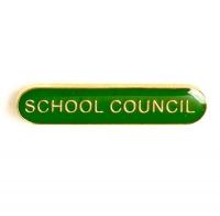 BarBadge School Council Green 40 x 8mm