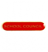 BarBadge School Council Red Red 40 x 8mm