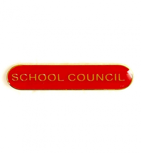 BarBadge School Council Red 40 x 8mm