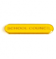 BarBadge School Council Yellow Yellow 40 x 8mm