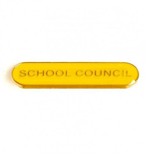 BarBadge School Council Yellow 40 x 8mm