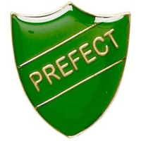 ShieldBadge Prefect Green Green 22 x 25mm