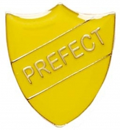 ShieldBadge Prefect Yellow Yellow 22 x 25mm