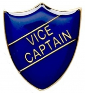ShieldBadge Vice Captain Blue Blue 22 x 25mm