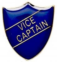 ShieldBadge Vice Captain Blue 22 x 25mm