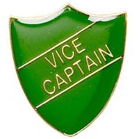 ShieldBadge Vice Captain Green Green 22 x 25mm
