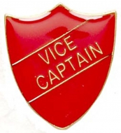 ShieldBadge Vice Captain Red Red 22 x 25mm
