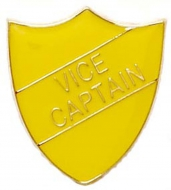 ShieldBadge Vice Captain Yellow Yellow 22 x 25mm