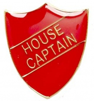 ShieldBadge House Captain Red Red 22 x 25mm