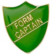 ShieldBadge Form Captain Green 22 x 25mm